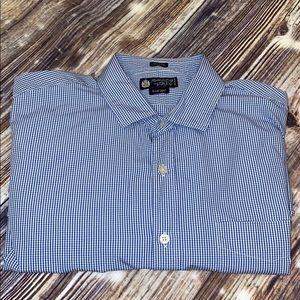 J.crew Men's Haberdashery blue gingham shirt sz L